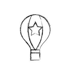 figure air balloon fly travel design vector image