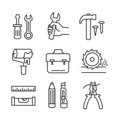flat tools repair vector image