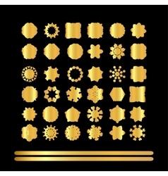 Gold mandala set vector image