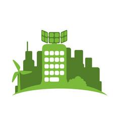 green city environment vector image