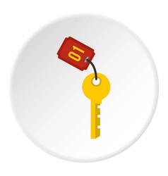 Hotel room key icon circle vector