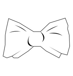 Isolated bowtie outline vector