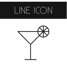 Isolated cocktail outline martini element vector