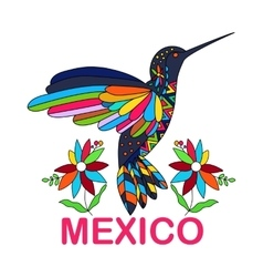 Isolated image of Mexican bird vector image