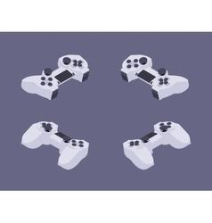 Isometric white gamepad vector image