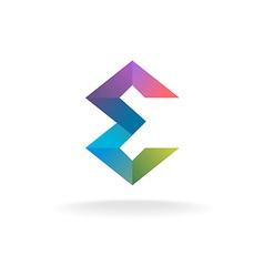 Letter e geometric logo vector