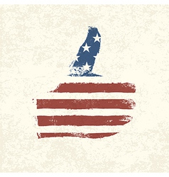 like symbol american flag vector image