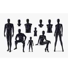 Mannequins set vector image
