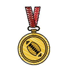 Medal winner sport vector