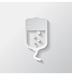 Medical dropper web icon vector