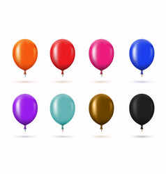 modern glossy helium balloons set for vector image