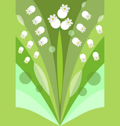 Modern stylized flower background with lily of the vector