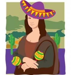 Mona lisa sombrero vector