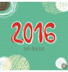 New Year doodle collection hand drawn new year vector image