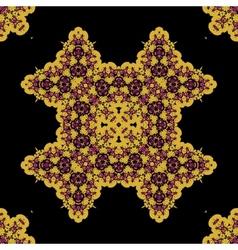 Ornate mandala seamless geometric pattern design vector