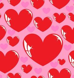 seamless wallpaper heart vector image vector image