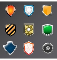 Shield logo icon design template elements vector image vector image