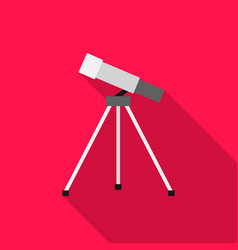 Telescope icon flat single education icon from vector