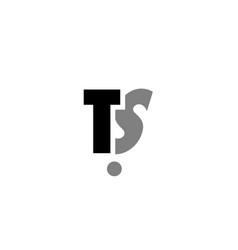 ts t s black white grey alphabet letter logo icon vector image vector image