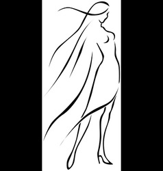 Woman siluete vector