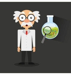 Scientific laboratory worker concept vector