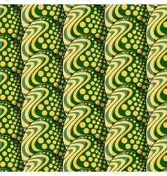 Seamless pattern of eggs with circles and waves vector