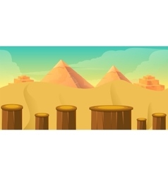 Arcade game world cartoon desert with blocks vector