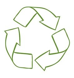 A recycle symbol vector