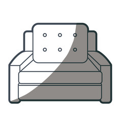 armchair cushions furniture home image shadow vector image