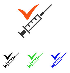 done vaccination flat icon vector image