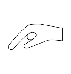 Hand pointing with index finger sideview icon vector