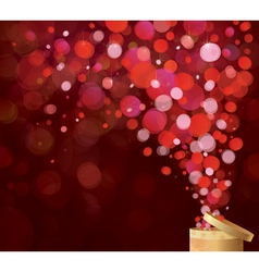 Gift red lights vector