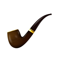 Tobacco pipe on a white background vector