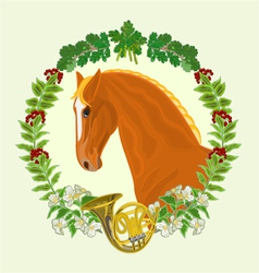 Sorrel horse head of stallion vector