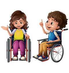 Children and wheelchair vector image