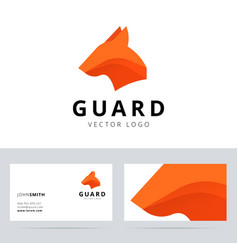 Guard logo template with dog head sign vector