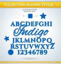 Indigo graphic styles for design use for decor vector