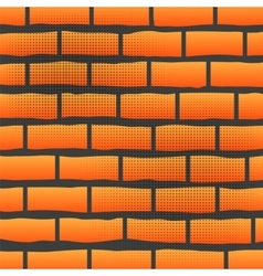 Orange grunge brick wall vector