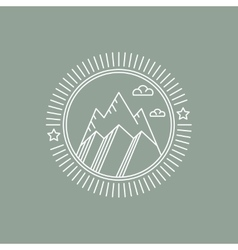 Line mountain and travel design logos and icons vector