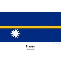 National flag of nauru with correct proportions vector