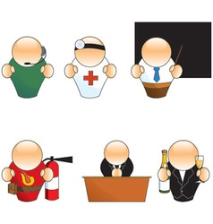 People job icons vector