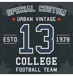 Vintage football poster vector