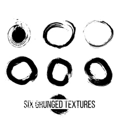 Set of Grunged Circles vector image
