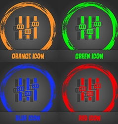 Equalizer icon fashionable modern style in the vector