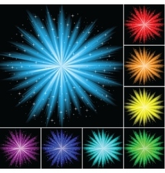 Color abstract firework vector