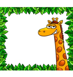 Giraffe in the woods vector
