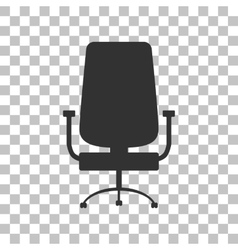Office chair sign dark gray icon on transparent vector