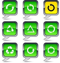 Arrows balloon icons vector