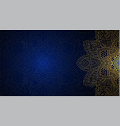 banner with round abstract ornament circle vector image vector image