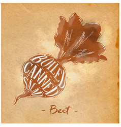 Beet cutting scheme craft vector